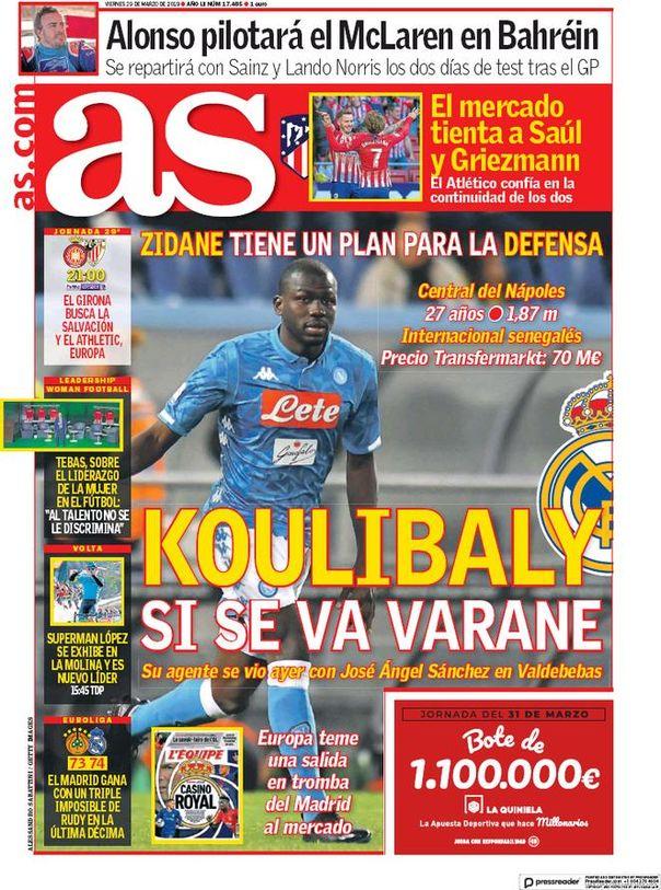 Real Madrid CF Kalidou Koulibaly